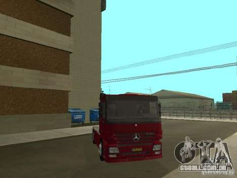 Mercedes Actros Tracteur 3241 para GTA San Andreas vista interior
