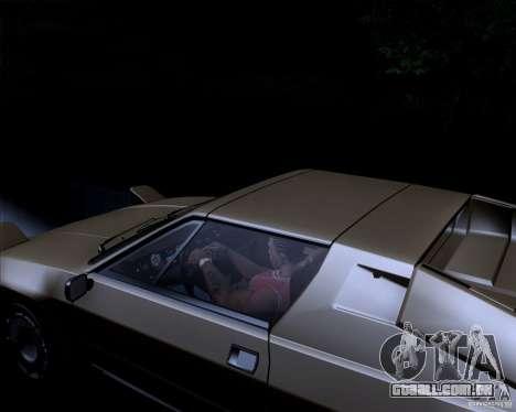 Lamborghini Jalpa 3.5 1986 para GTA San Andreas vista interior