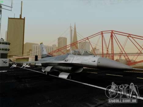F-16C Warwolf para GTA San Andreas vista interior