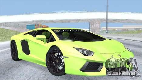 Lamborghini Aventador LP700-4 2012 para GTA San Andreas