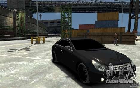 Mercedes Benz CLS Brabus Rocket 2008 para GTA 4 vista de volta