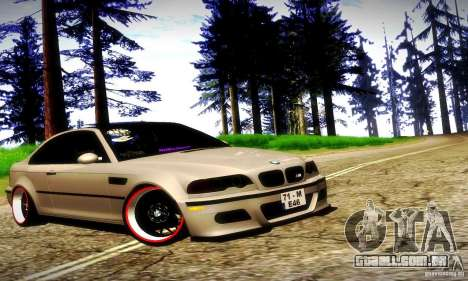 BMW M3 JDM Tuning para GTA San Andreas interior