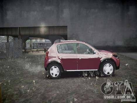 Dacia Sandero Stepway para GTA 4 vista interior