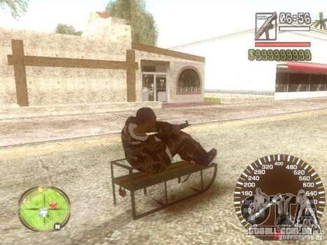 Sani para GTA San Andreas vista superior
