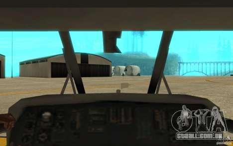 UH-60 Black Hawk para GTA San Andreas vista interior