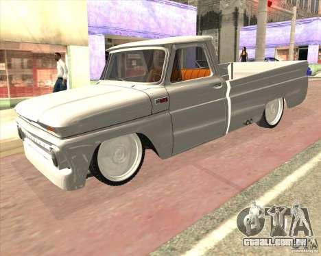 Chevrolet C10 1966 Low Gray para GTA San Andreas