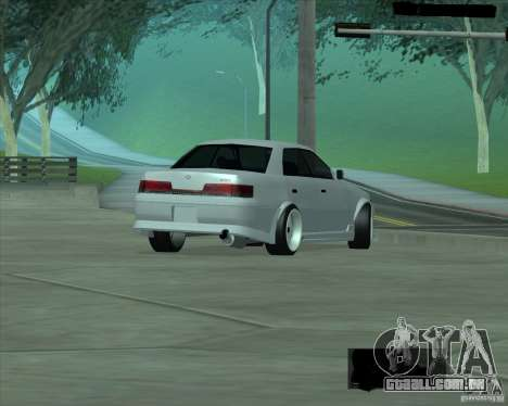 Toyota Mark II Tuning para GTA San Andreas vista direita