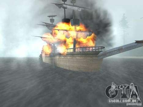 Navio pirata para GTA San Andreas terceira tela
