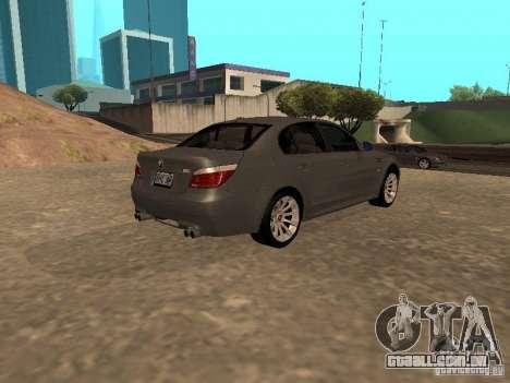 BMW M5 E60 2009 v2 para GTA San Andreas esquerda vista