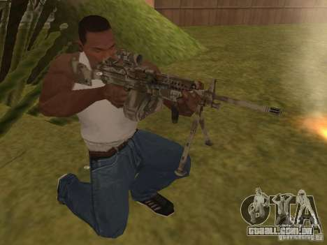 Metralhadora MK-48 para GTA San Andreas segunda tela