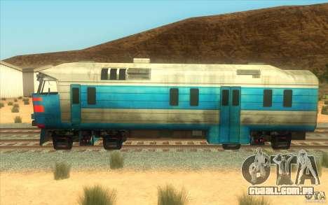 Um trem do jogo Half-Life 2 para GTA San Andreas traseira esquerda vista