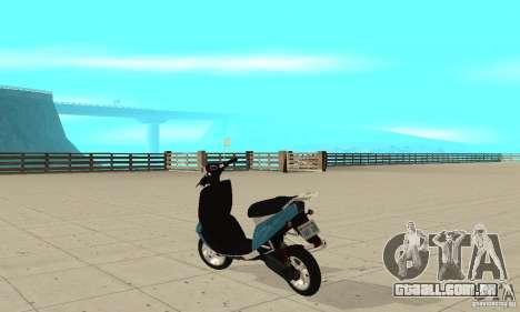 GTAIV Faggio para GTA San Andreas traseira esquerda vista