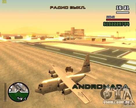 C-130 hercules para GTA San Andreas vista direita