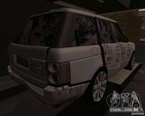 Land Rover Range Rover Supercharged para GTA San Andreas vista interior