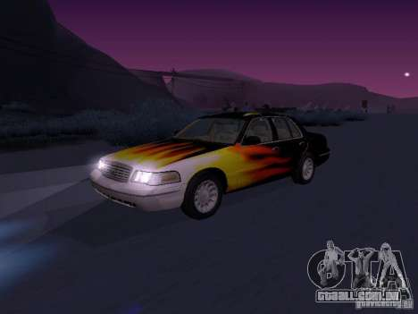 Ford Crown Victoria para GTA San Andreas vista traseira