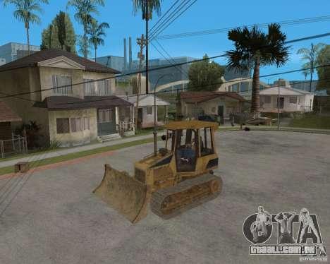 Bulldozer de COD 4 MW para GTA San Andreas vista interior