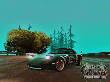 Mazda RX7 rEACT para GTA San Andreas esquerda vista