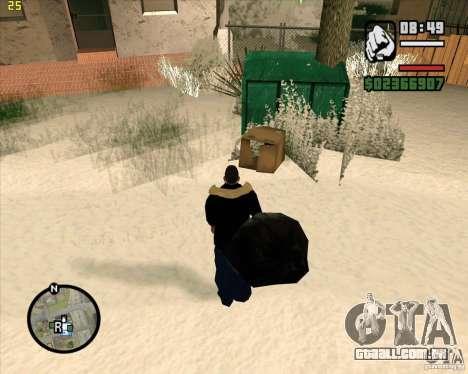 Faz um lixo para GTA San Andreas por diante tela