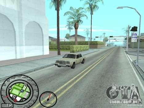 Velocímetro com indicador de combustível para GTA San Andreas segunda tela