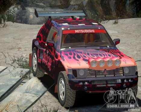 Mitsubishi Pajero Proto Dakar EK86 vinil 4 para GTA 4 vista superior