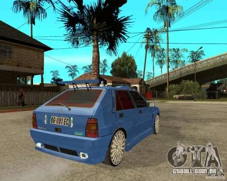 Lancia Delta Sparco para GTA San Andreas traseira esquerda vista