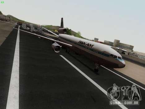 McDonell Douglas DC-10-30 PanAmerican Airways para GTA San Andreas traseira esquerda vista