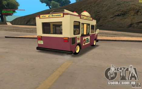 Chevrolet Forvard Control 20 Ice Cream para GTA San Andreas esquerda vista