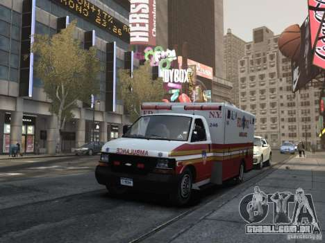 Chevrolet Ambulance FDNY v1.3 para GTA 4 vista interior
