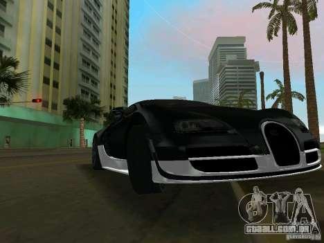 Bugatti Veyron Extreme Sport para GTA Vice City deixou vista