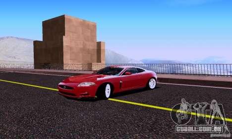 Jaguar XKRS para GTA San Andreas vista traseira