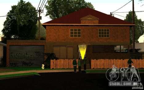 Nova casa na Grove Street CJ para GTA San Andreas terceira tela