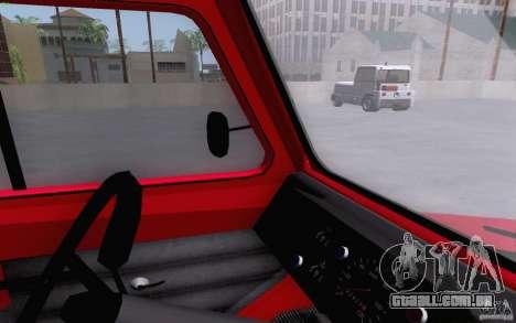 Caminhão de reboque de LuAZ 13021 para GTA San Andreas vista direita