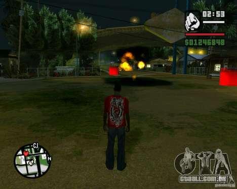 Wrecking ball para GTA San Andreas sexta tela