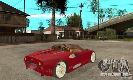 Spyker C8 Spyder para GTA San Andreas vista direita
