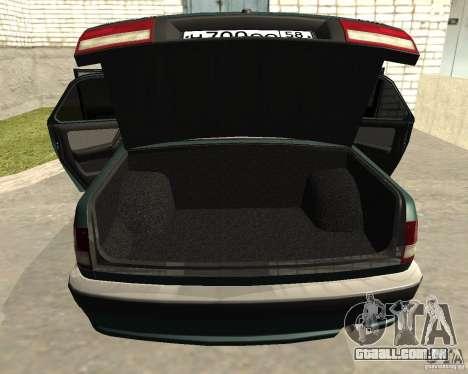 Volga GAZ 3110 para GTA San Andreas vista interior