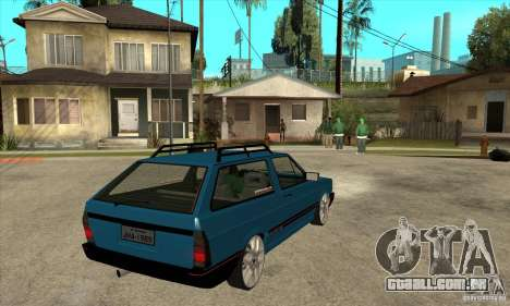 VW Parati GLS 1989 JHAcker edition para GTA San Andreas vista direita