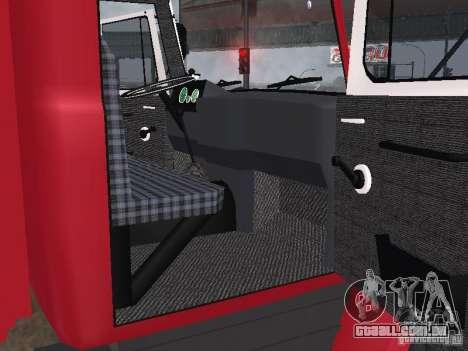 GAZ 3309 fogo para GTA San Andreas vista traseira