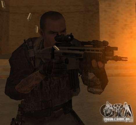 Yuri de Call of Duty: Modern Warfare 3 para GTA San Andreas terceira tela