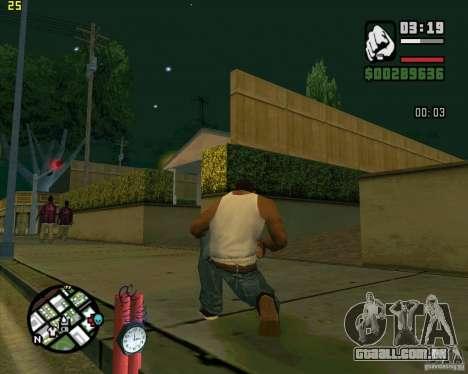 Dinamite para GTA San Andreas por diante tela