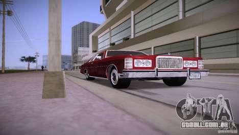 Ford LTD Brougham Coupe para GTA Vice City vista traseira esquerda
