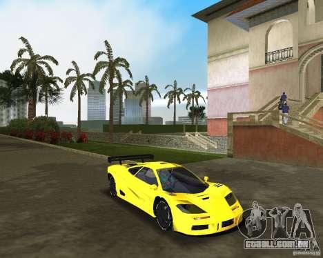 McLaren F1 LM para GTA Vice City vista direita