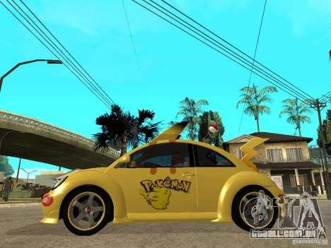 Volkswagen Beetle Pokemon para GTA San Andreas esquerda vista