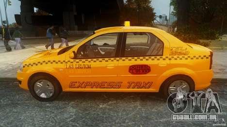 Dacia Logan Facelift Taxi para GTA 4 esquerda vista