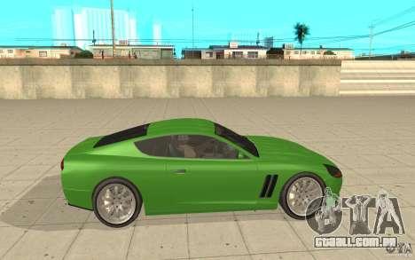 Super GT do GTA 4 para GTA San Andreas esquerda vista