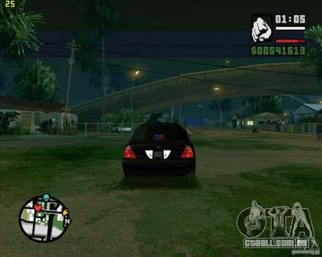 Ford Crown Victoria FBI para GTA San Andreas vista direita