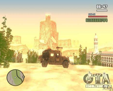 Hummer H1 do COD MW 2 para GTA San Andreas vista interior