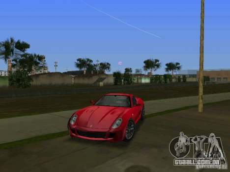 Ferrari 599 GTB para GTA Vice City deixou vista