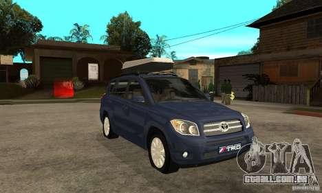 Toyota RAV4 V2 para GTA San Andreas vista traseira