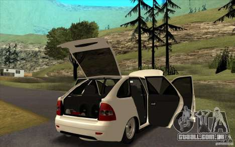 Lada Priora 2172 Hatchback para GTA San Andreas vista interior