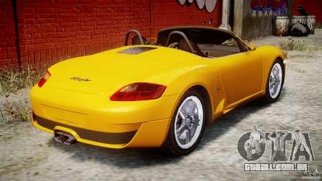 Ruf RK Spyder v0.8Beta para GTA 4 vista superior